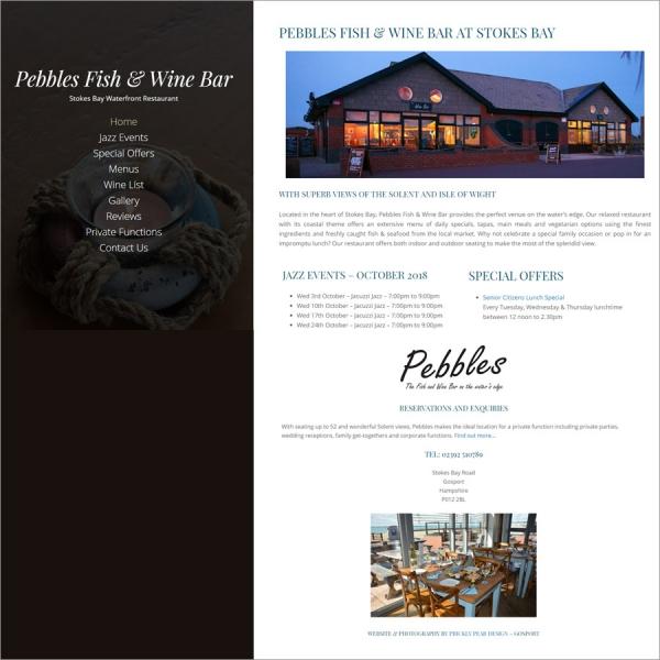 Pebbles Fish & Wine Bar