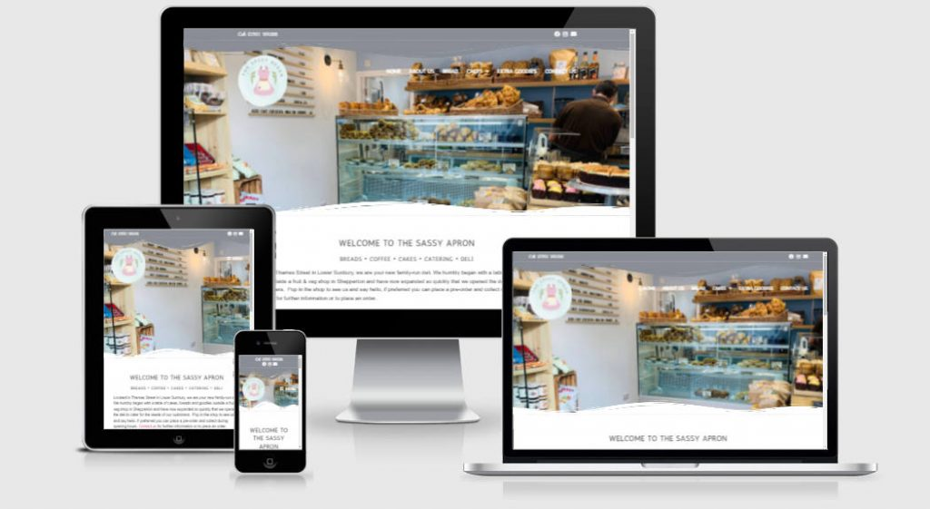 The Sassy Apron Website by Prickly Pear Design